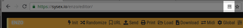 Chrome MIDI icon in URL